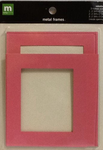 Making Memories: Pink Metal Frames ~ 3 Count ~ Scrapbooking ~ Album Cover ~ Decoration by MAKING MEMORIES