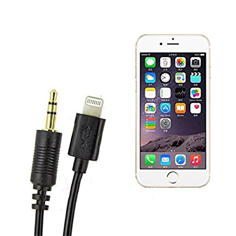 Kosee Lightning Connector Cable to MDI AMI Audio Line Out and USB Charge Audio Cable Lead Compatible with Select Audi & Volkswagen Vehicles (See Compatibility List) for Apple iPod, iPhone 5 5s, 6, 6 Plus and