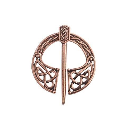 Gudeke Broche Nórdico del Nudo de Las runas Nórdicas Célticas Nórdicas, Varón Wiking Viking Antique Badge Pin (1)