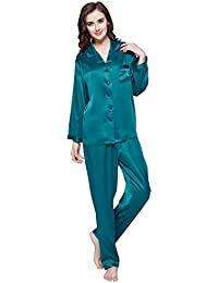 LILYSILK Women s 100 Silk Pyjama Set Long Pajamas Ladies 2Pcs 22 Momme Pure  Mulberry Silk Charmeuse f36964579