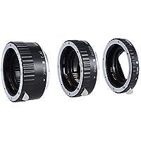 Andoer Tubo de Extensión de Macro Metal Enfoque Automático TTL de Colores para Canon EOS EF-S 60D 7D 5D II 550D Plateado