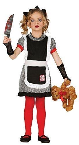 Mädchen Tötlich Puppe Gothik Tot Beängstigend Halloween Kostüm Kleid Outfit 3-12 jahre - 5-6 (Beängstigend Mädchen Für Kostüme Halloween)