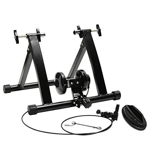 GLG Foldable Magnetic Turbo Trainer 8 Level Resistance Road Indoor Bike Training New -