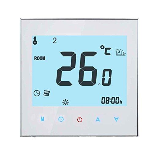 Masterein Programmierbare LCD-Anzeigen-Screen-Wasser-Heizungs-Thermostat NTC-Sensor Raumtemperaturregler (Programmierbare Lcd-anzeige)