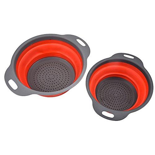 OUNONA 2ST Silikon Seiher Faltbare Sieb Küche Werkzeug