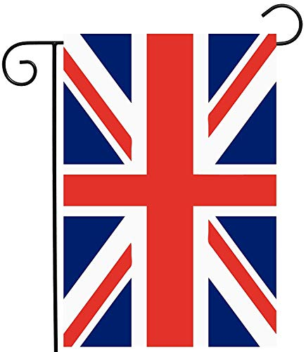 ASKYE Union Jack British UK Flag Garden Yard Flag Double Sided, Polyester Great Britian England United Kingdom Welcome House Flag Banners for Patio Lawn Outdoor Home Decor(Size: 28inch W X 40inch H) -