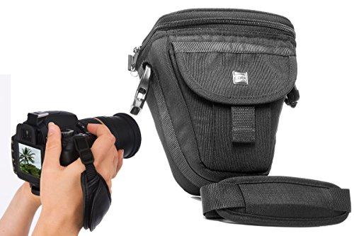 Foto Kamera Tasche Malta II Set mit Action Handgriff für Canon EOS 1300D 750D 750D 80D Nikon D5500 5300 5100 Sony Alpha