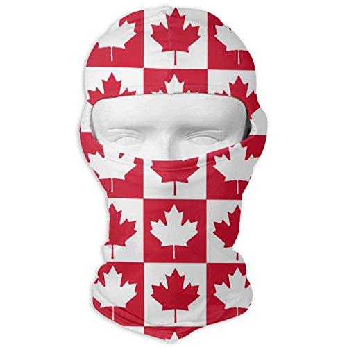 Jxrodekz Kanadische Maple Flag Check Windundurchlässige Staubdichte Gesichtsmaske UV-Schutzhaube Hut