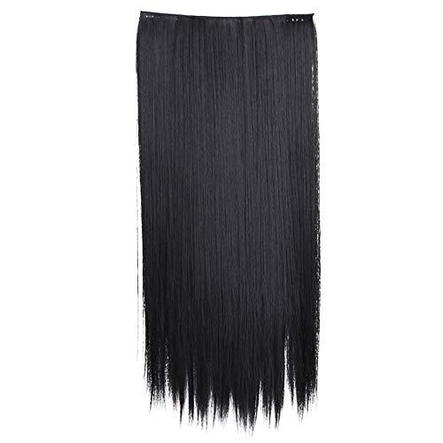 Pergrate - extensions con clip, capelli lunghi e setosi, capelli sintetici nero