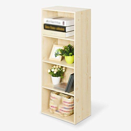 DFHHG® Estantería, librería, taquillas tableros de partículas de color blanco arce cuatro capas combinación durable