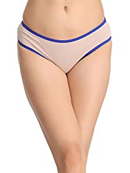 Clovia Womens Mid-Waist Bikini with Trimmed Elastic - Beige (PN0759P24_Beige_Small)