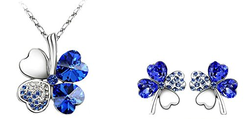 bijoux-set-de-femmes-blue-crystal-douce-four-leaf-clover-collier-boucles-doreilles-en-or-blanc-18k-c