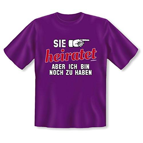 T-Shirt ::: Sie heiratet ::: Violett Violett