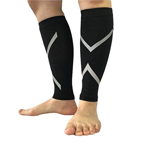 ALLY Compressport Calf Sleeves, Waden Kompressionsstulpen, Calf Guard, Bein Sleeve für Laufen, Radfahren, Wandern, Klettern, Outdoor-Sportarten - 1 Paar (M 11.8