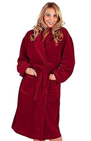Robe de Chambre en Polaire Doux Ornée de Rubans (S)