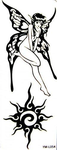 GRASHINE Luminous Tattoo-Aufkleber wasserdichte Engel Sonne die Körpermalerei