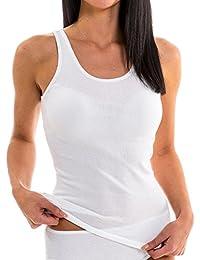 HERMKO 1310 Damen Unterhemd aus reiner Baumwolle in verschiedenen Farben