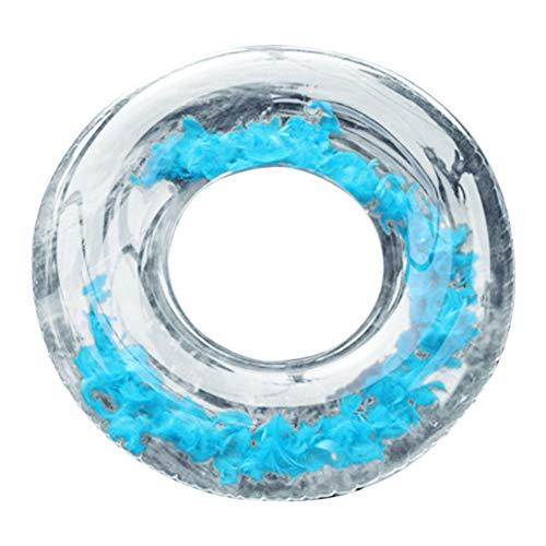 Steellwingsf Aufblasbares Schwimmbecken Strand Floating Rafts Schwimmring Circle Wasser Relax Spielzeug, PVC, blau, 120 cm