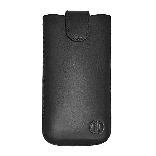 JT Berlin SlimCase Premium Echtledertasche für z.B. Apple iPhone 8/7/6S/6, Samsung Galaxy A3 (2017)/S5 mini [Größe 2ML I Gürtelschlaufe I Magnetverschluss I