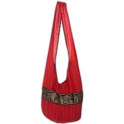 Lofbaz Mujer Bolsa de Monje budista de Algodón Rojo