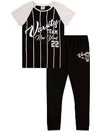 Teenage Girl's Pyjamas American College New York Varsity Team PJS 9 To 16 Years