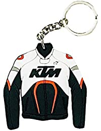 RIANZ KTM Inspired Double Sided Rubber Keychain Keyring