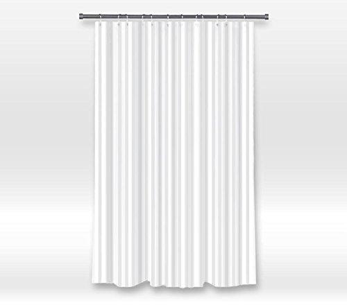Vandarllin Damast-Duschvorhang, lang, Weiß/wasserabweisend Extra Long 72