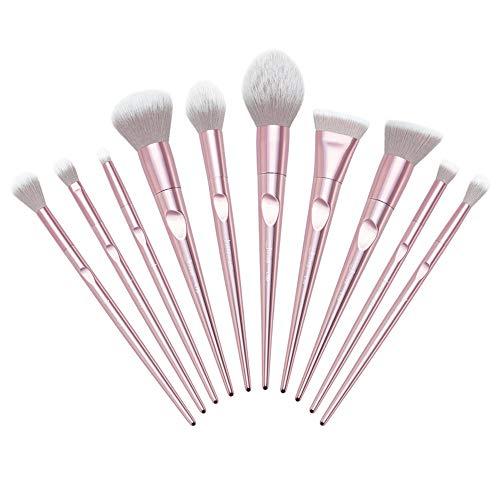 Beito 10PCS Pro Make-up-Pinsel-Set Weiche Kosmetik Pinsel Kits Synthetische Bürsten für Foundation...