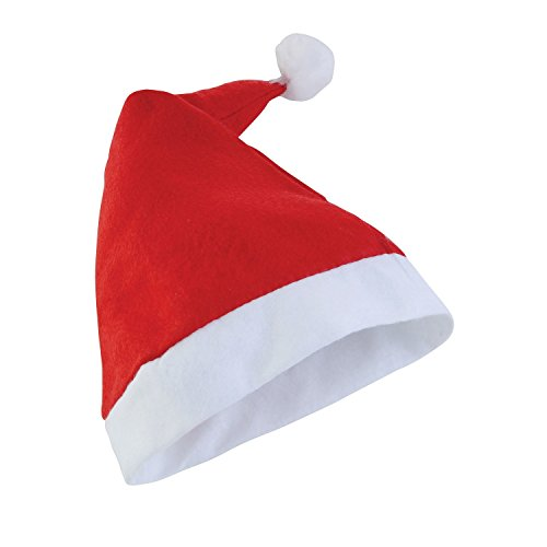 x Weihnachtsmütze / Nikolausmütze (One Size) (Rot) (Vlies Nikolausmütze)