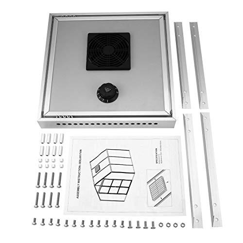 ForceSthrength HX-F15 Solar-Thermostatventilator für Gewächshaus zur automatischen Belüftung -