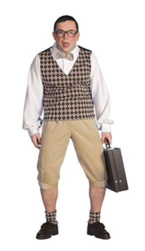 ,Karneval Klamotten' Kostüm Schüler Streber Herr Karneval Nerd Herrenkostüm (Für Kostüme Nerd Erwachsene)