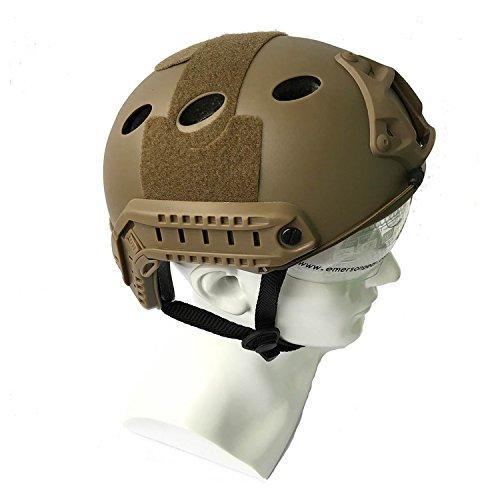 H World EU Gefechtshelm, SWAT-Stil, mit Schutzbrille für CQB  / Nahkampf, Paintball,  nachgebildete Militärausrüstung, Herren, ()