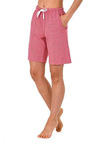 Pyjama Bermuda kurze Hose bedruckt - Mix & Match - ideal zum kombinieren 224 90 904 Rot