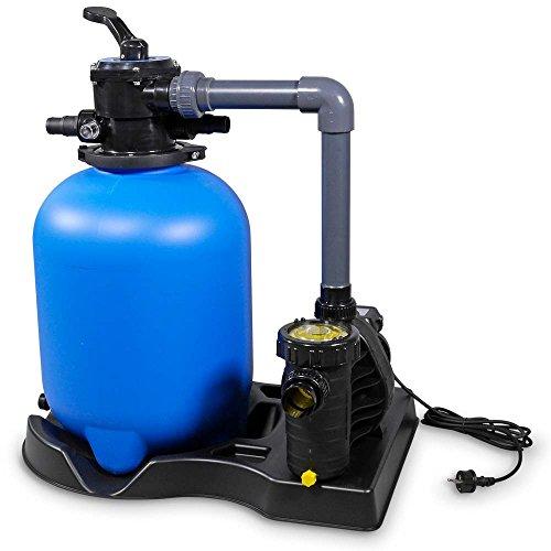 Pool - Sandfilter Bali Premium 400 mit 6-Wege Ventil | von OKU | mit Aqua Plus 8 bis 40m³ | Für Pool