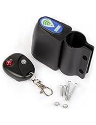 Xiaokesong® Wireless Fahrrad Diebstahlschutz Alarm Alarmanlage Schloss Sicherheit Zusatz mit Fernbedienung