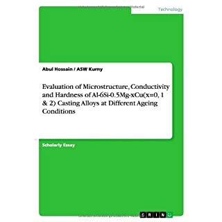 Evaluation of Microstructure, Conductivity and Hardness of Al-6si-0.5mg-Xcu(x=0, 1 & 2) Casting Alloys at Different Ageing Conditions by Abul Hossain (2014-04-28)