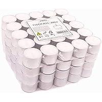 Pajoma Lot de 100 bougies chauffe-plat non parfumées, durée de combustion : 8 heures Bougie chauffe-plat Gastro