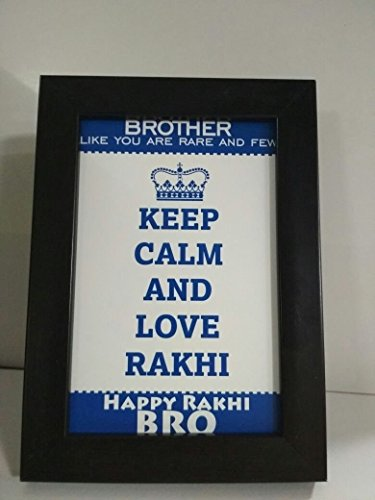 Rakhi Gift for Sister. Raksha Bandhan quote 6 in x 4 in Photo Frames By FOA  available at amazon for Rs.199