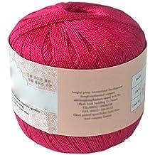 Hilo de hilo de algodón mercerizado para bordar ganchillo para tejer, joyería de encaje –