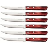 STEAK KNIFE - POLYWOOD - 6 pc - TRAMONTINA, Brazil