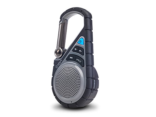 Ion Audio Clipster Active Bluetooth Outdoor Speakers, Black