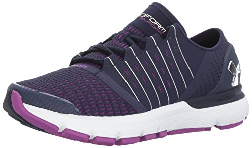 Under Armour Women's Speedform Europa Running Shoe, Blk/Ptp/MSV, M US