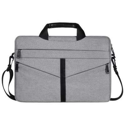 ZHAOLV Laptoptasche Stoßfestes Nylon Schulter Handtasche Messenger for 13 14 15 15.4 15.6 Notebook Fall Frauen Männer Sleeve Laptop Bag (Color : Gray, Size : 13 inch) -