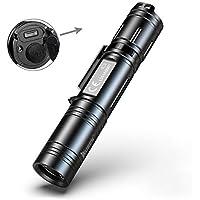 Tattico Torcia Professionale Con LED OSRAM P9, 1200 Lumens, Torcia LED Impermeabile 5 Modalità di illuminazione Con Ricaricabili 18650 Batterie