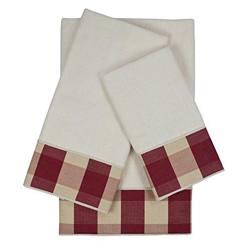 Sherry Kline Holbrook Kordel verziert Handtuch-Set, Rot