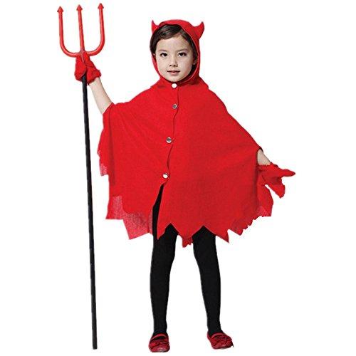 Pormow Halloweenkostüm für Kinder Cosplay Kostüme Hexe Vampire Maskerade,Niedlichen ()