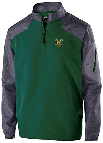 Ouray Sportswear NCAA Vermont Catamounts Men's Raider Pullover, Large, Carbon Print/Forest -