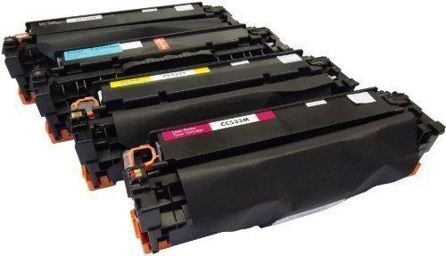 Bubprint 4 Toner kompatibel für HP 304A CC530A CC531A CC532A CC533A für Color Laserjet CM2320FXI CM2320NF CM2320N MFP CP2020 CP2025 CP2025N CP2025DN (Hp Toner Cc530a)