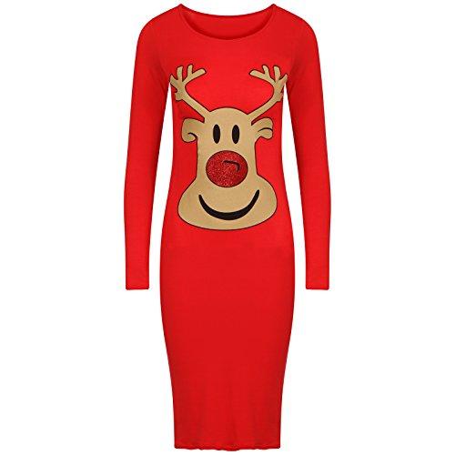 Get The Trend - Robe - Manches Longues - Femme Noir Noir RED RUDOLPH