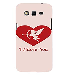 PrintVisa Valentines Day Design 3D Hard Polycarbonate Designer Back Case Cover for Samsung Galaxy Grand 2